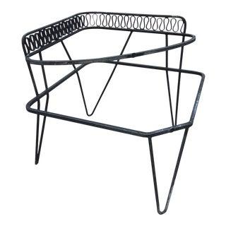 "1950s Mid-Century Modern Maurizio Tempestini for Salterini Wrought Iron ""Scherzo"" Side Table For Sale"