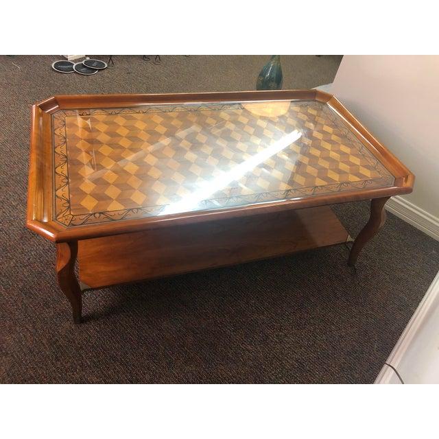 Metal Vintage John Widdicomb Furniture Coffee Table For Sale - Image 7 of 13