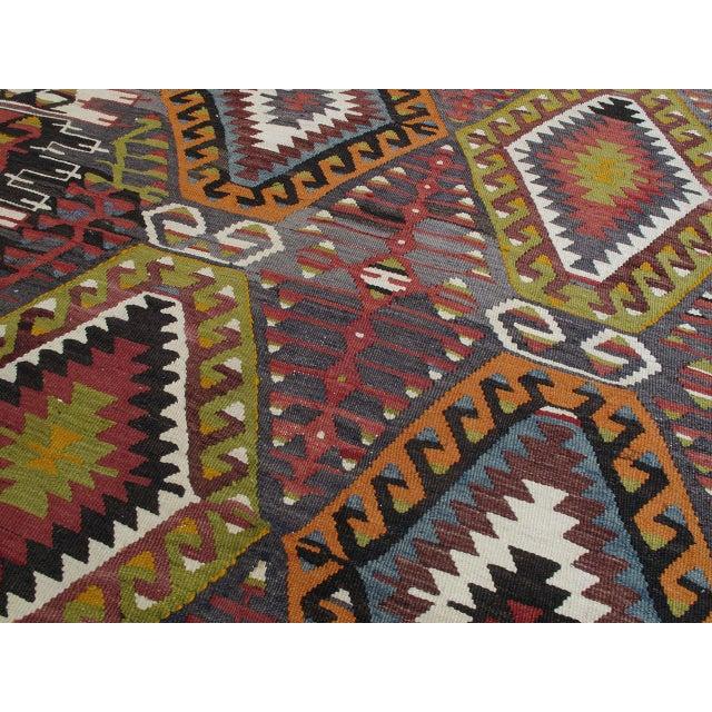 1980s Eshme Kilim For Sale - Image 5 of 10