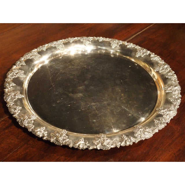 Silver A Circa 1900 Silver Plated Punch Bowl and Tray For Sale - Image 8 of 11