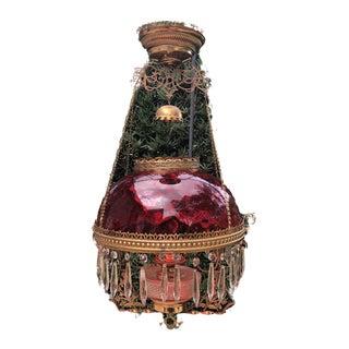 Antique 18th Century Cranberry Chandelier For Sale