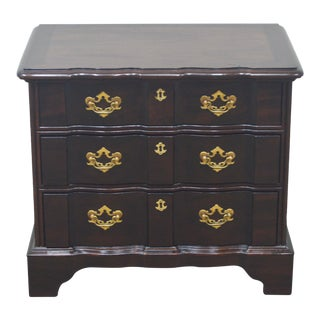 Henredon Chippendale Solid Mahogany Nightstand Bedside Table For Sale