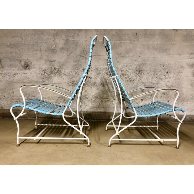 Mid-Century Modern Pair of Mid Century Modern High Back Patio Lounge Chairs For Sale - Image 3 of 13