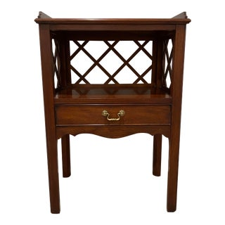 Henkel Harris Mahogany Lattice Trim Nightstand For Sale