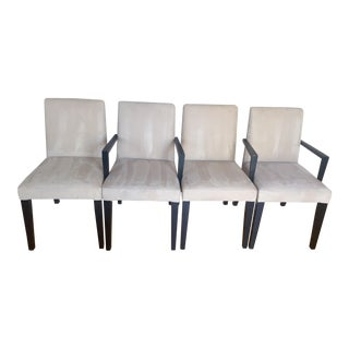Bo Concept Ultrasuede Parson Dining Chairs - Set of 4 For Sale