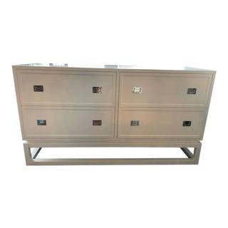 4-Drawer Matte White Lacquer Dresser