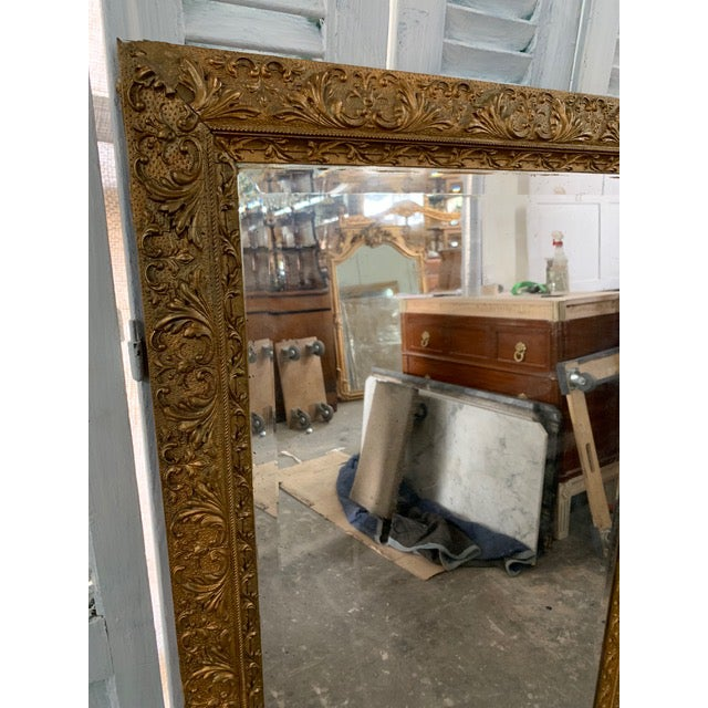 Mid 18th Century 18th Century French Louis XVI Giltwood Mirror For Sale - Image 5 of 9