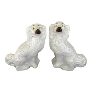Antique Late 19th Century Staffordshire Dogs - a Pair For Sale