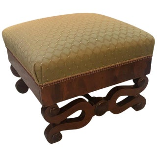 Early 19th Century American Empire Mahogany Bench Ottoman For Sale