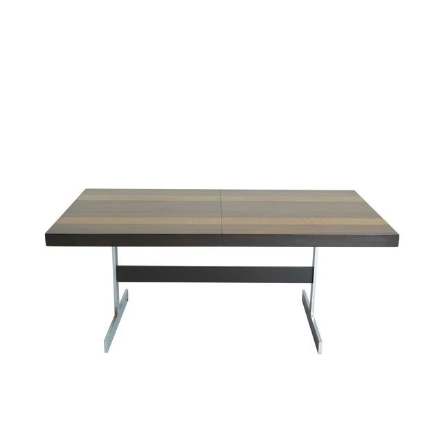 Expandable Mixed Wood Milo Baughman Dining Table - Image 1 of 7