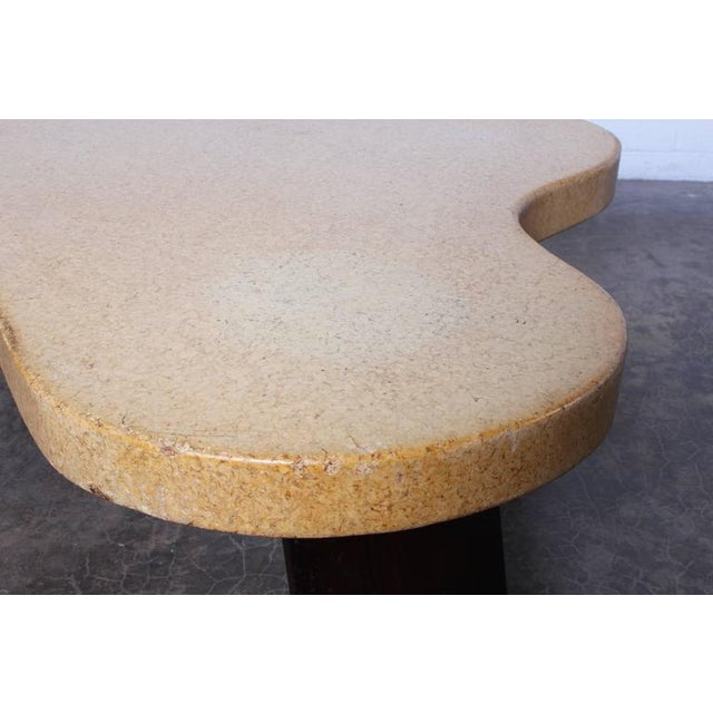Mahogany Amoeba Cork Top Coffee Table by Paul Frankl For Sale - Image 7 of 10