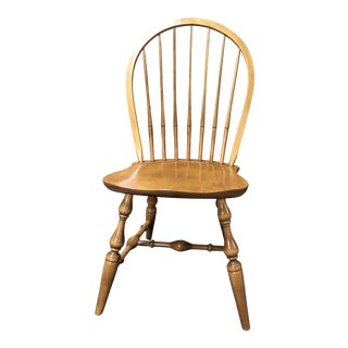 Mid 20th Century Nichols & Stone Country French Bowback Windsor Dining Side Chair For Sale