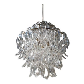 1970s Mid-Century Modern Murano Chandelier by Angelo Mangiarotti For Sale