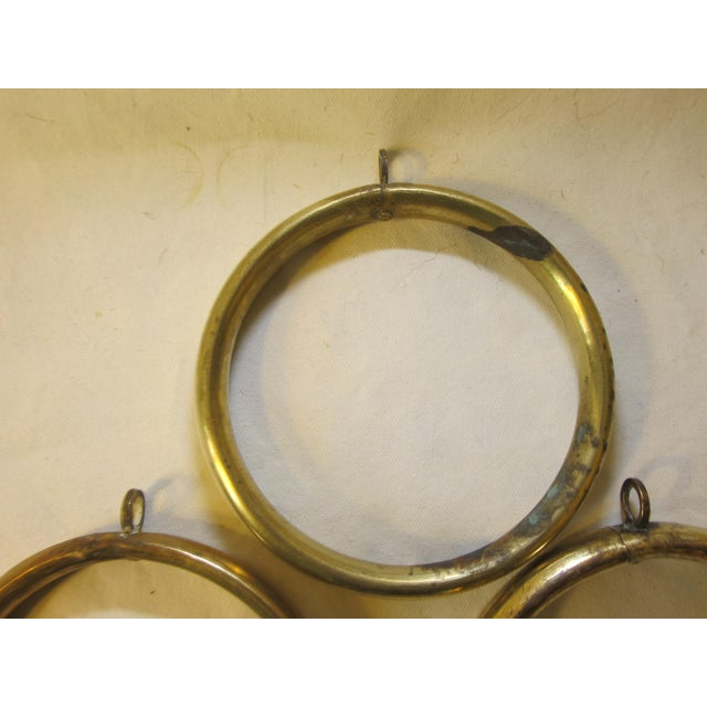 Early 20th Century Antique Brass Curtain Rings - Set of 10 For Sale - Image 5 of 6