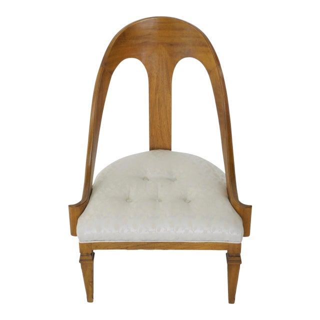Neoclassical Style Spoon Back Slipper Chair For Sale