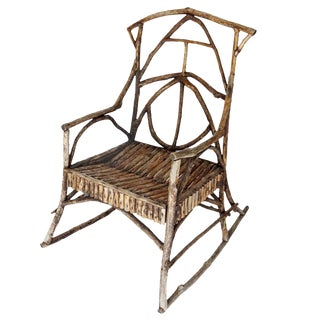 Beautiful Antique Twig Rocker