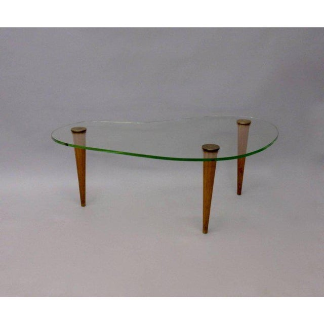 Gilbert Rohde Style Art Deco Floating Glass Cloud Coffee Table - Image 4 of 5