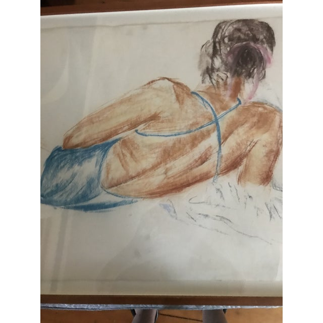 Vintage Drawing of a Reclining Woman For Sale - Image 4 of 6