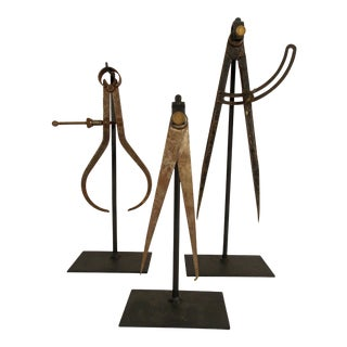 Antique Drafting/Architectural Tools on Stands - Set of 3 For Sale