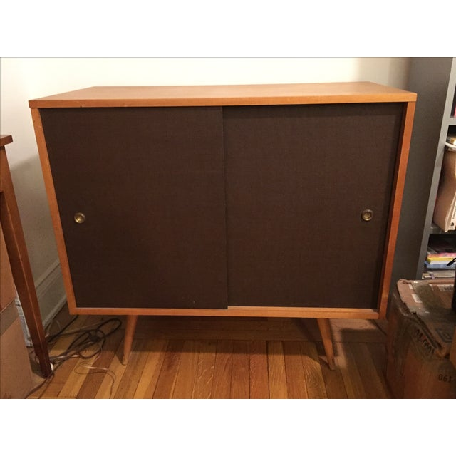 Paul McCobb Planner Group Grass Cloth Cabinet - Image 5 of 5