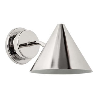 Hans-Agne Jakobsson 'Mini-Tratten' Polished Nickel Outdoor Sconces For Sale