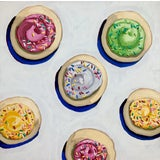 """Image of """"Summer Cookies"""" Contemporary Pop Art Style Still Life Acrylic Painting by Nicole Newsted For Sale"""