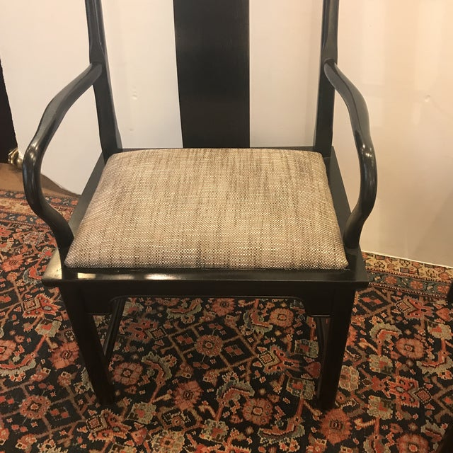 Mid-Century Modern Asian Style Armchairs - a Pair For Sale - Image 4 of 12