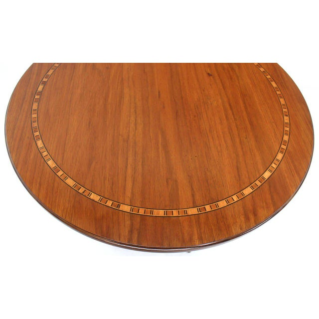 Early 20th Century Baker Two-Tone Round Gueridon or Center Drum Table For Sale - Image 5 of 10