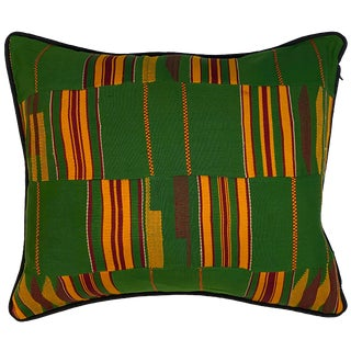 Vintage African Design Sherma Turkish Cotton Throw Pillow For Sale
