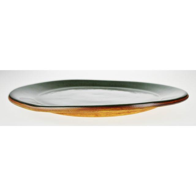 """Vintage Terrafirma Ceramics by Ellen Evans 12"""" Dinner Plate For Sale - Image 5 of 8"""