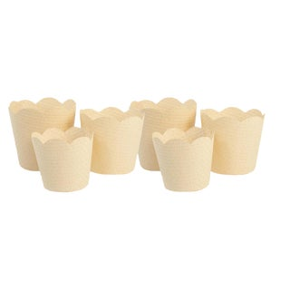 Paper Orchid Baskets in Natural - Set of 6 For Sale