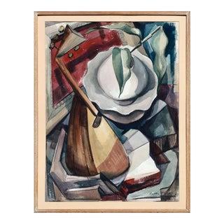 Solter Cubist Mandolin Still Life 1966 For Sale