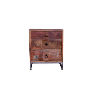Horton Three Drawer Bedside Table