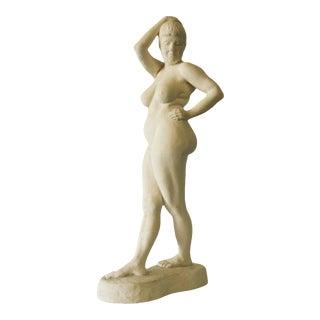 "1970s ""Cathy"" Figurative Female Nude Plaster Sculpture For Sale"