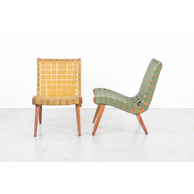 1940s Jens Risom Style Furniture Set With Klaus Grabe Chaise For Sale - Image 5 of 13
