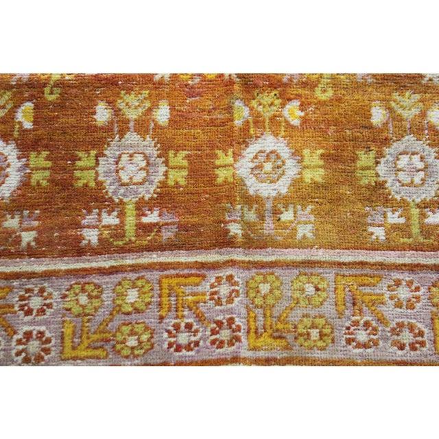 """Asian Vintage Khutan Rug-4'5'x8'10"""" For Sale - Image 3 of 6"""
