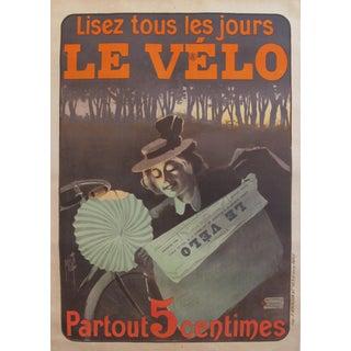 1899 French Vintage Newspaper Advertisement, Lisez Le Velo