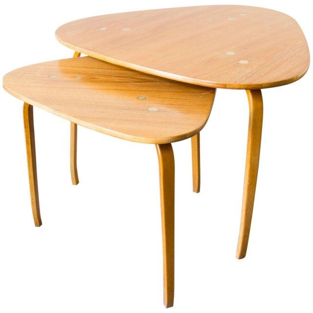 1960s Pair of Yngve Ekström for Dux Nesting Tables For Sale - Image 5 of 5