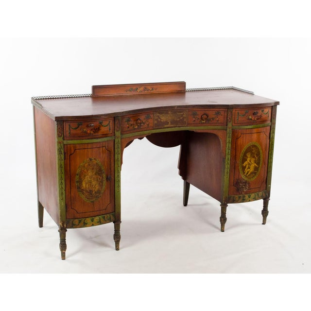 Complete your parlor or study with this antique provincial gem! This French Provincial hand painted writing desk is...
