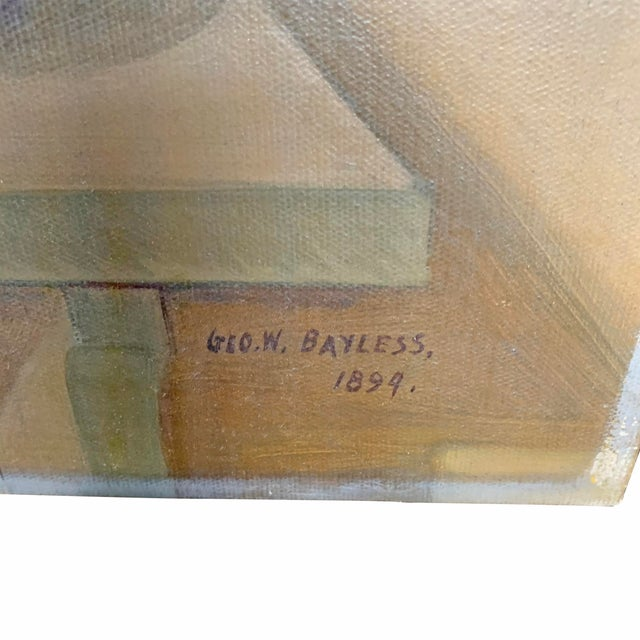 Gray 19th Century American Trompe l'Oeil Hunt Painting For Sale - Image 8 of 11