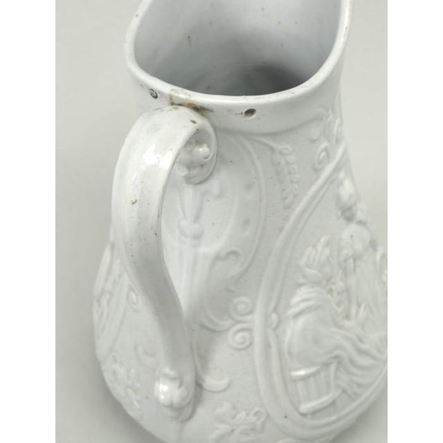 """Ceramic English Staffordshire Pitcher """"Old Mother Hubbard"""" For Sale - Image 7 of 11"""