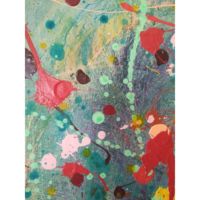 Abstract Abstract Expressionism Painting of Pastel Explosion For Sale - Image 3 of 4