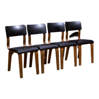 Set of Thonet Bentwood Bakelite Dining Chairs C.1930 For Sale
