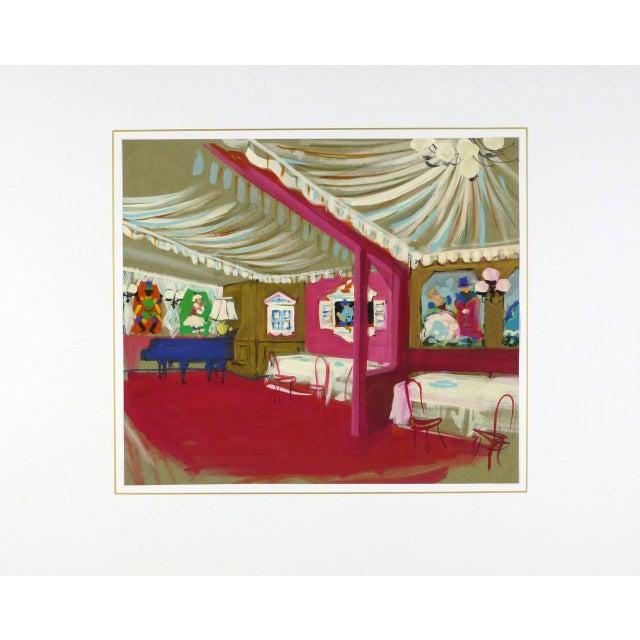 Am. Rémy, Vintage French Gouache - Paris Cabaret For Sale - Image 4 of 5
