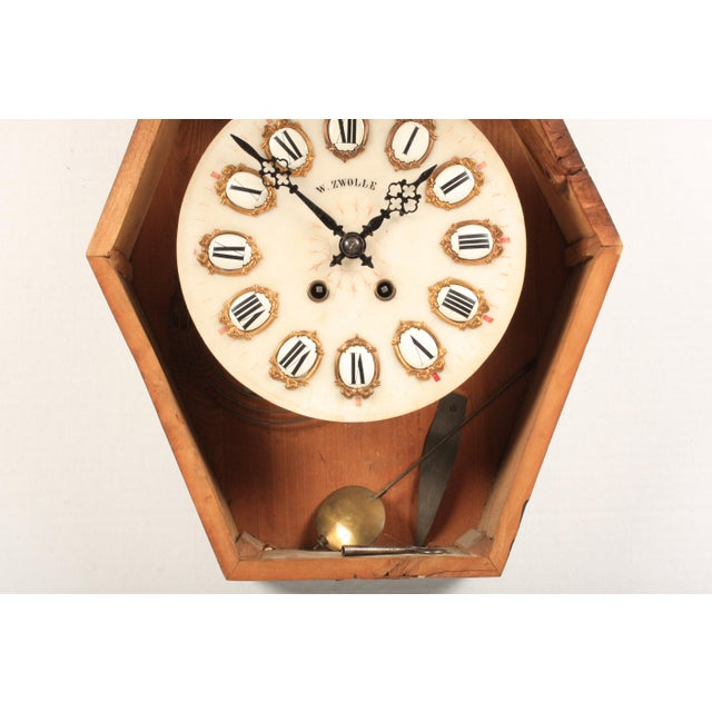 19th-C. French Napoleon III Wall Clock For Sale - Image 4 of 7