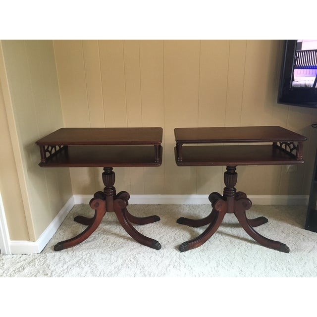 These tables are in the style of Duncan Phyfe from my grandmother's house. I know very little about them except the...