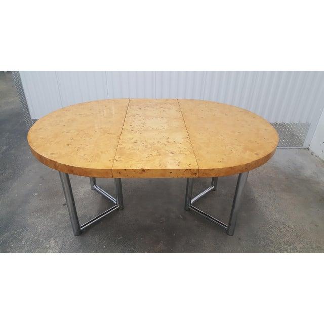 Metal Mid-Century Modern Milo Baughman Dinner Table . For Sale - Image 7 of 13
