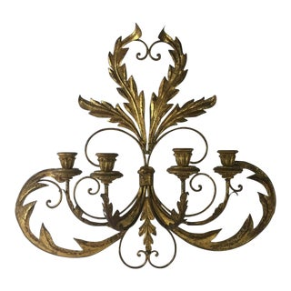 Hollywood Regency Candle Sconce For Sale