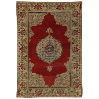 20th Century Turkish Oushak Accent Rug, Entry or Foyer Rug - 3'6 X 5'4