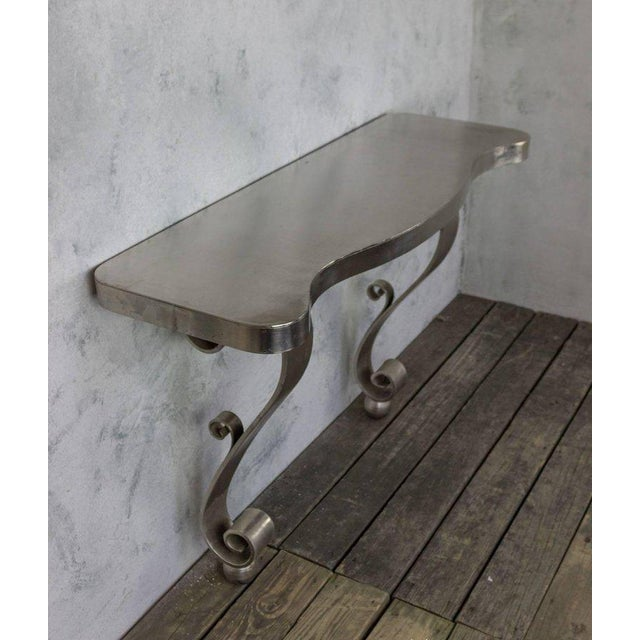 French Polished Steel Console - Image 6 of 11